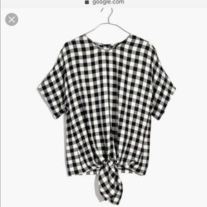 Madewell Plaid gingham the front top